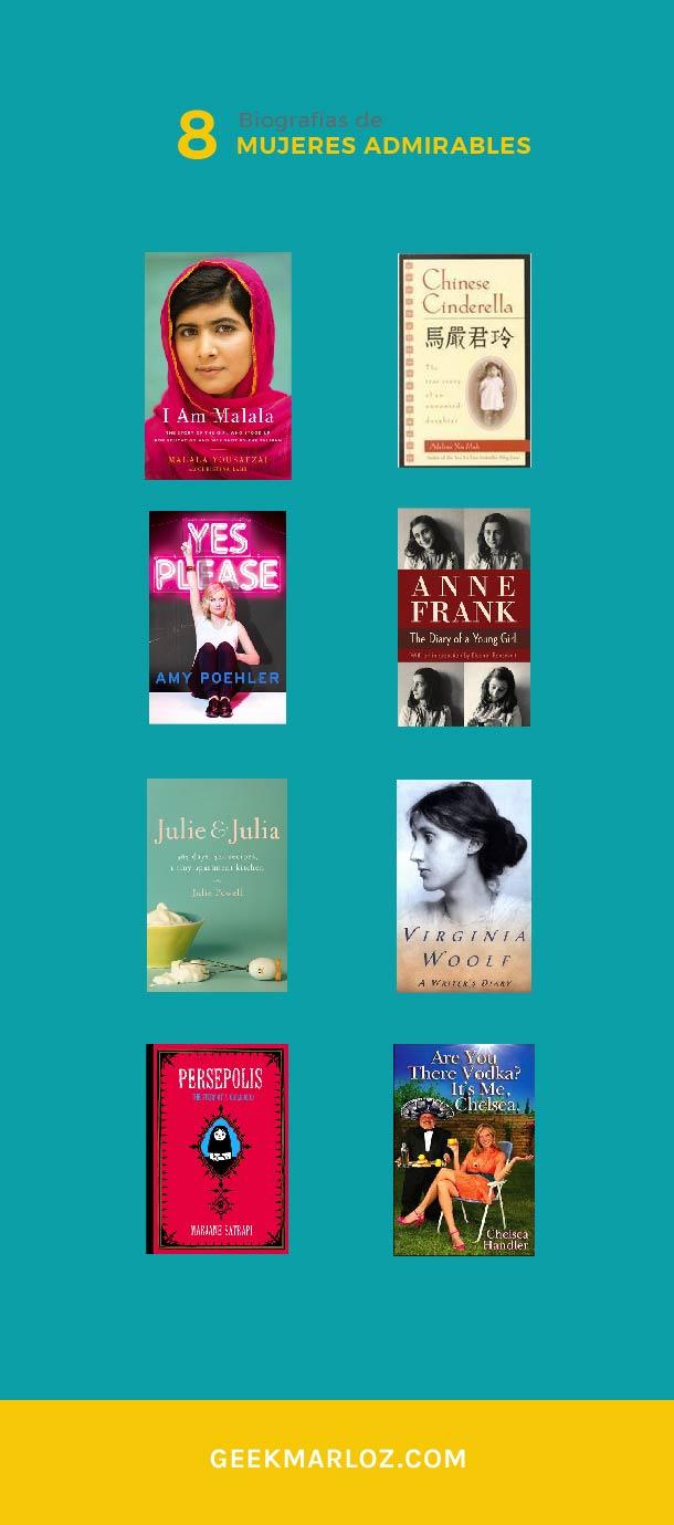 8 biografías de mujeres admirables