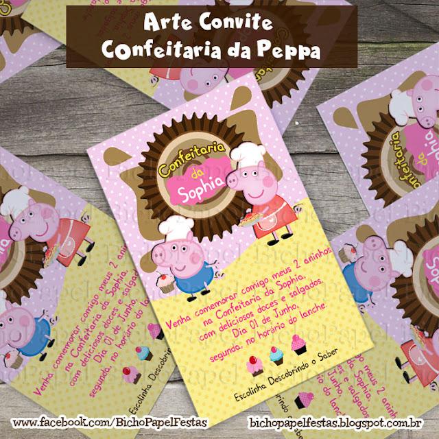 Convite Peppa Confeitaria Doceria