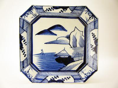 写真1-1 長沼焼と考えられる手描きの角皿