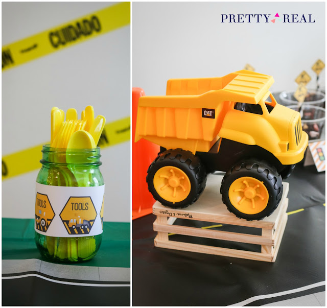 clever ideas for an easy construction themed birthday party