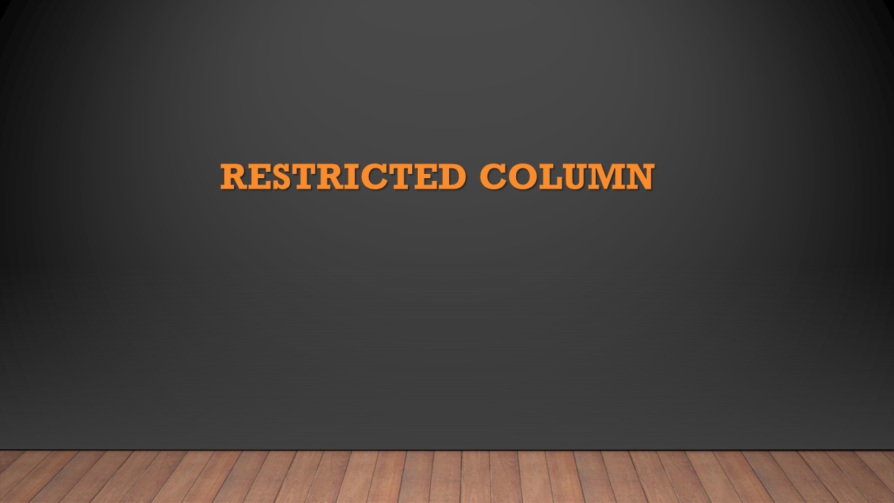 SAP HANA: Restricted Column   HANA