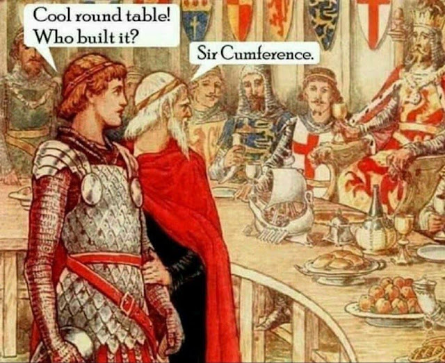 Cool Round Table! Who built it?  Sir Cumference. Pun