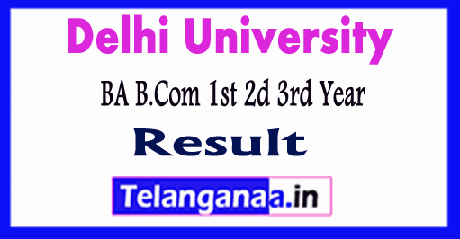 DU SOL BA BCom 1st 2nd 3rd Year Result 2018