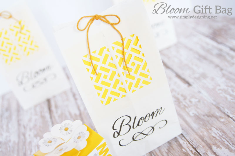 DIY Bloom Bag | a perfect simple homemade gift bag for a spring gift, wedding favor, baby shower favor or even a wedding gift | #wedding #spring #gift #handmadegift #flowers #babyshower #teacherappreciation