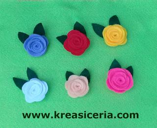 Cara Mudah Membuat Bross Mawar Cantik dari Kain Flanel