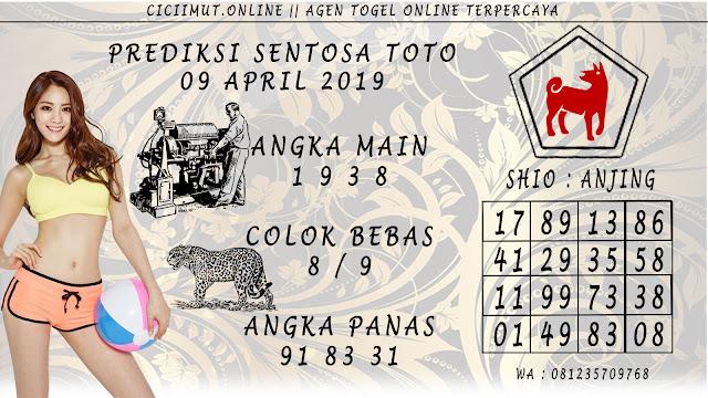 Prediksi Angka Jitu SENTOSA TOTO 09 APRIL 2019