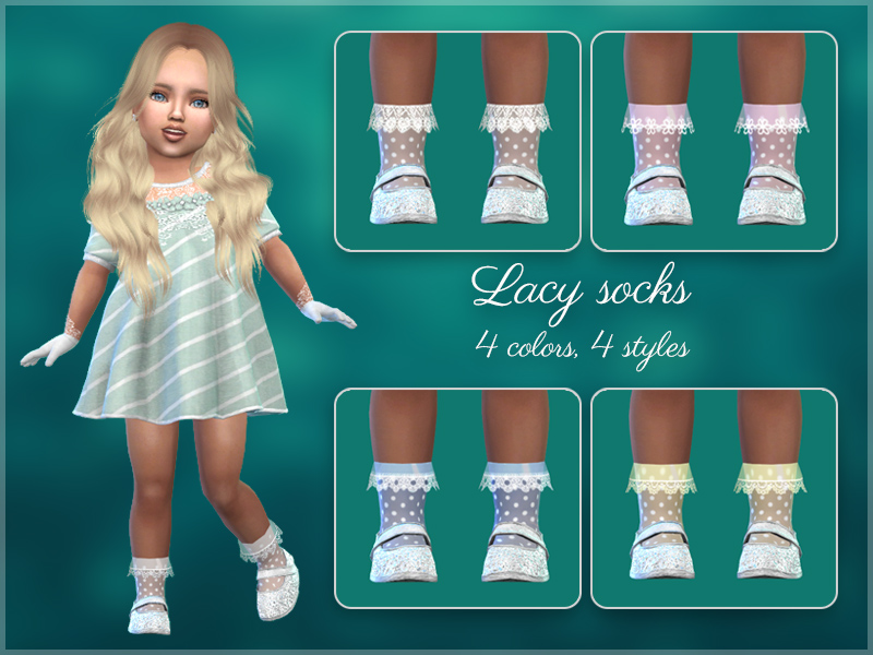 Детские аксессуары Lacey-socks-toddlers-dots