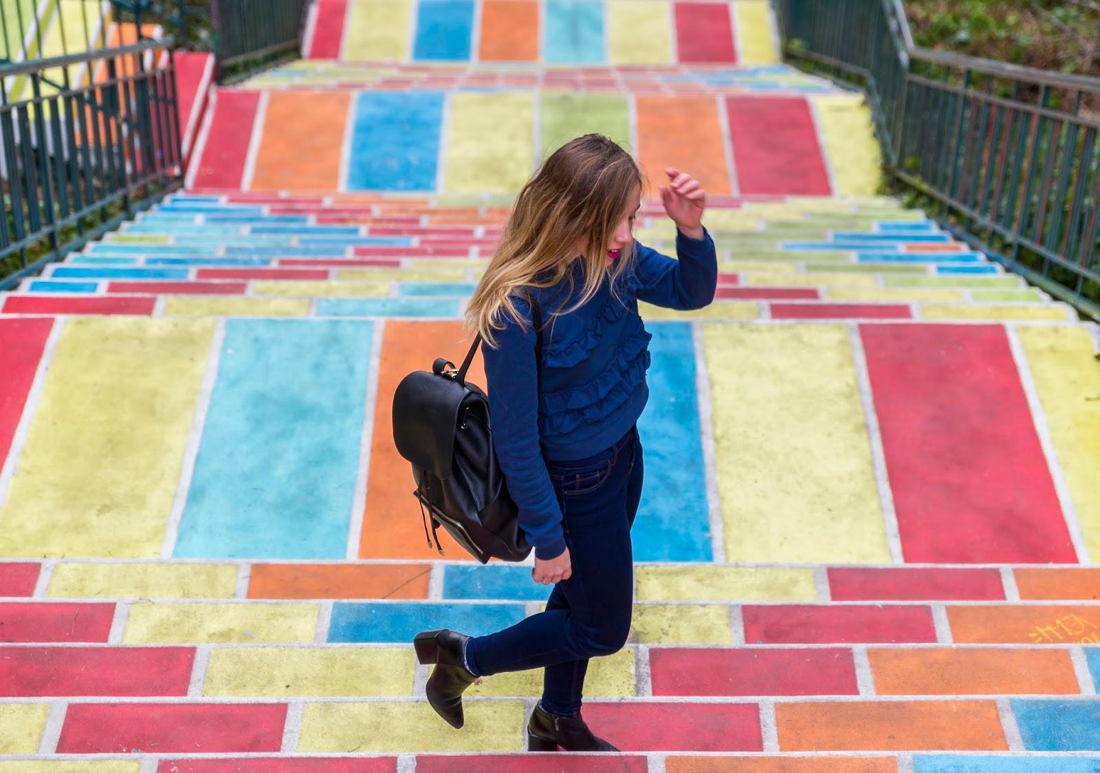 Escaliers peint coloré