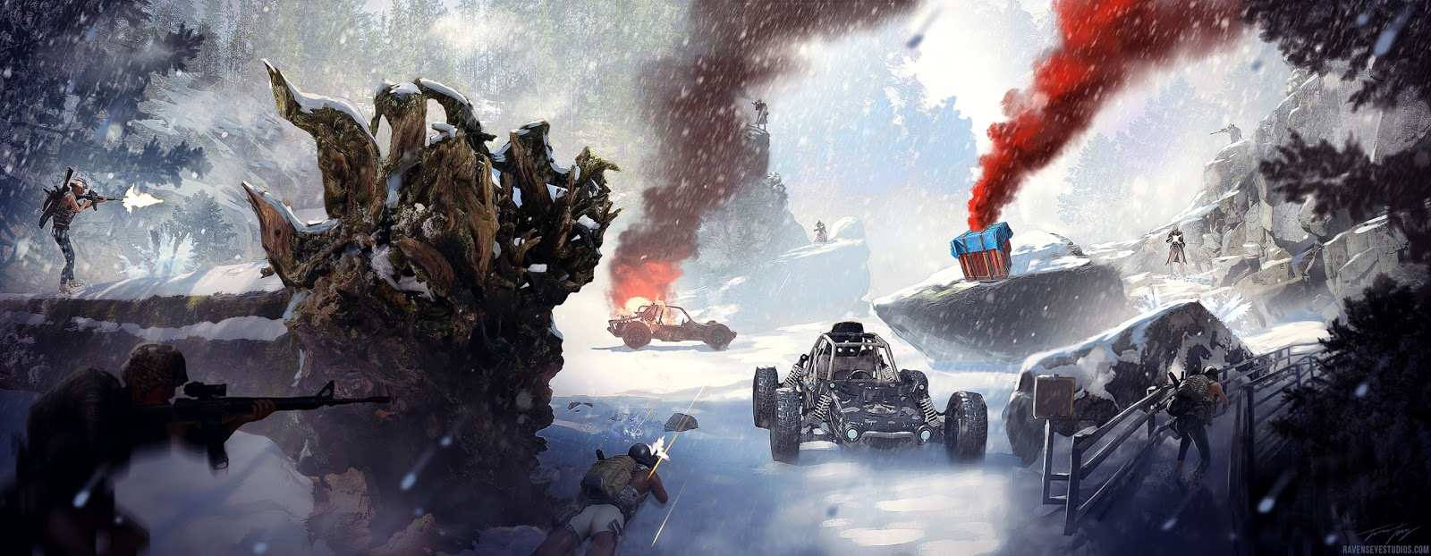 Pubg Christmas Wallpaper: Concept Art And Design Of Travis Lacey