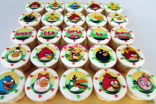 Birthday Cupcake Edible Image Angry Birds
