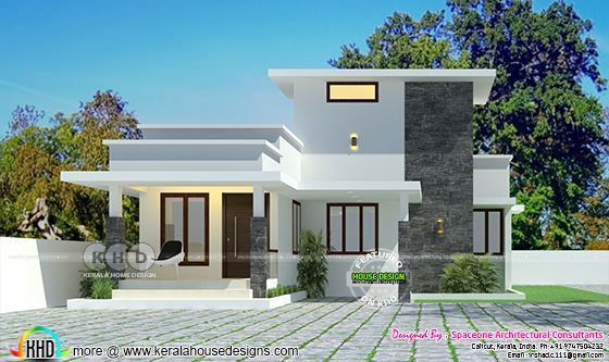 Low cost single storied 2 BHK home