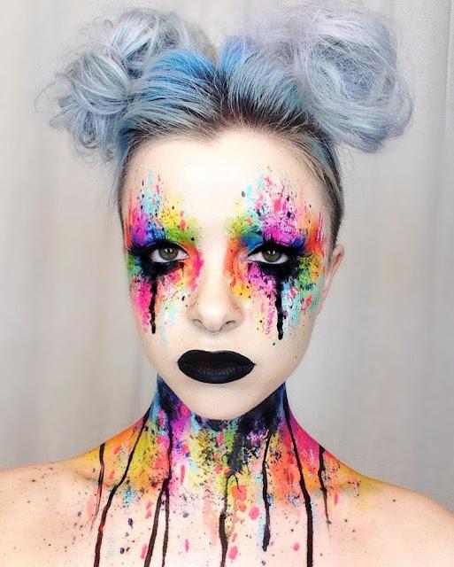 Idées maquillage halloween originaux couleurs