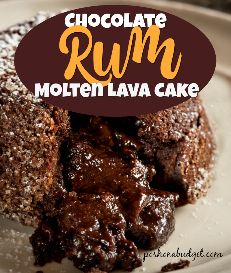 Chocolate Rum Molten Lave Cake