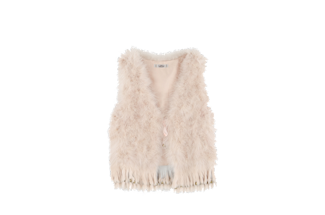 Chaleco de pelo de color rosa empolvado 69.99€