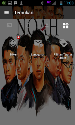BBM MOD v3.0.1.25 Noah Lover APK New Upgrade