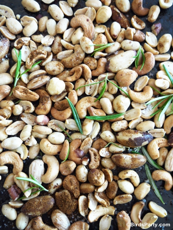 Party Food | Spicy Chipotle & Rosemary Nuts Recipe - BirdsParty.com