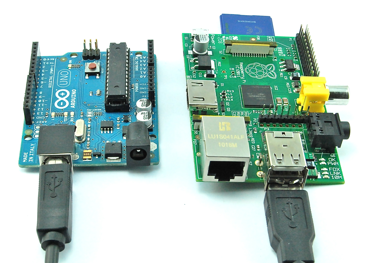 Arduino UNO & The Raspberry Pi together