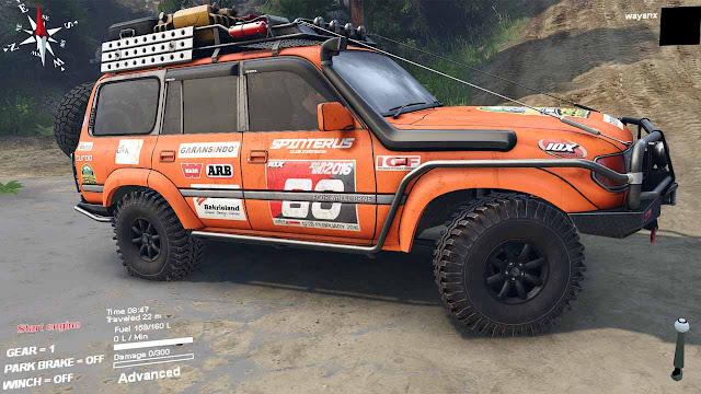 Mod Toyota Land Cruiser VX 80 Untuk Spintires