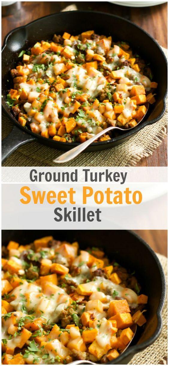 Ground Turkey Sweet Potato Skillet Recipe #Ground #Turkey #Sweet #potato #Skillet #Dinner #Simplyrecipe #Easyrecipe