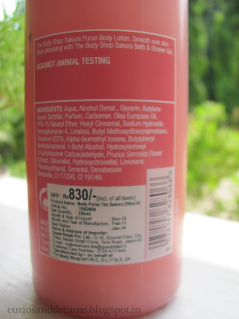 the body shop cherry blossom lotion review