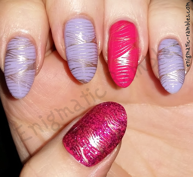 Enigmatic Rambles: 26 Great Nail Art Ideas: Pink, Lilac and Gold