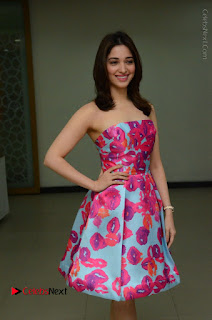 Actress Tamanna Latest Images in Floral Short Dress at Okkadochadu Movie Promotions  0040.JPG