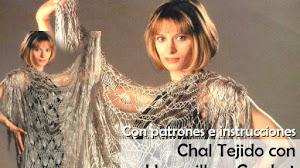Fantástico Chal Tejido con Horquilla y Crochet / Con patrones y explicaciones en español