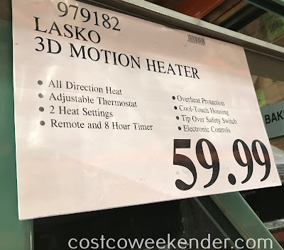 Deal for the Lasko 3D Motion Ceramic Tower Heater at Costco