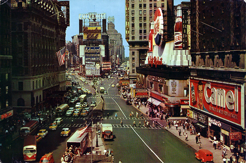 Times Square, circa 1955 (Source: Stana's NYC postcard collection)