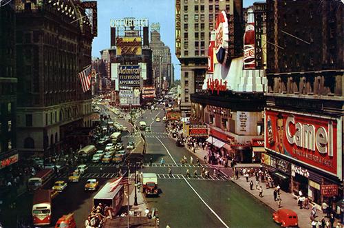 Times Square, circa 1955 (Source: Stana's NYC postcard collection)