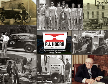 A photo montage of founder Philipp J. Hoerr
