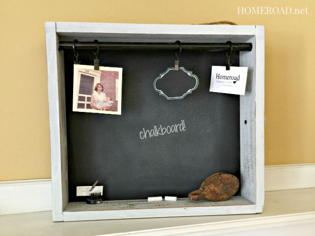Chalkboard Drawer Message Center