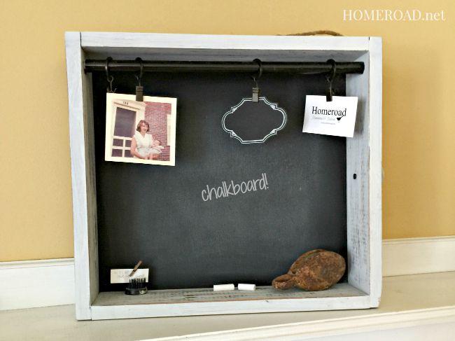 Chalkboard Drawer Message Center