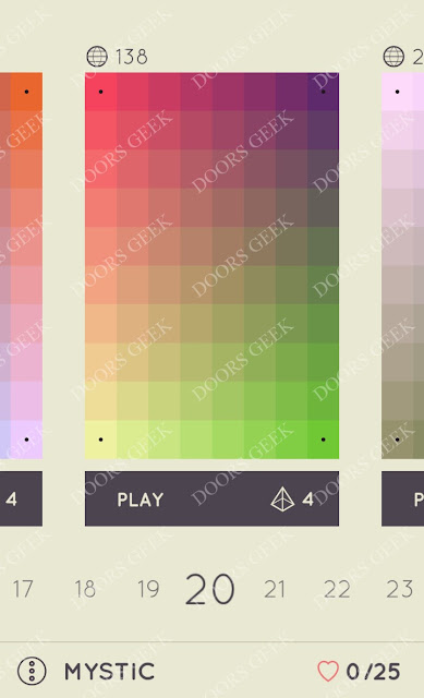 I Love Hue Mystic Level 20 Solution, Cheats, Walkthrough