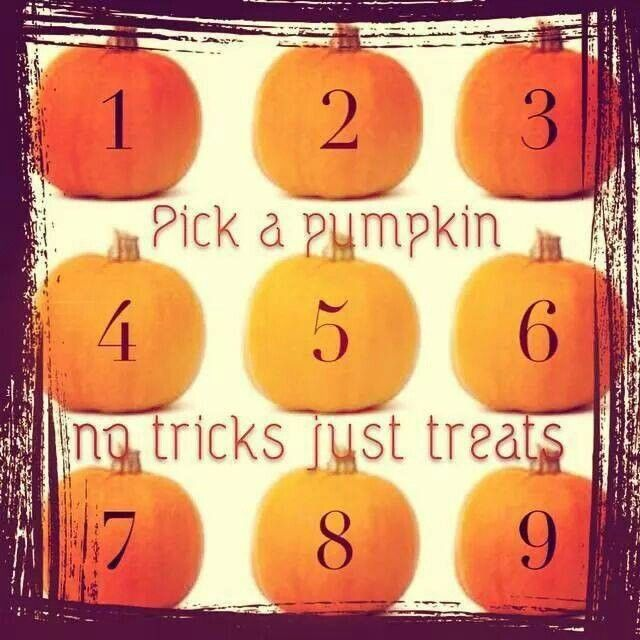 the stampin rn happy halloween pick a numbered pumpkin