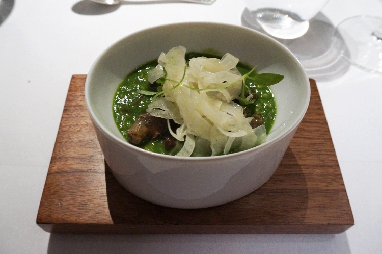 Euriental | dinner at the Fat Duck, Bray, by Heston Blumenthal. Snail porridge (signature dish).