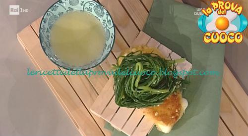Scamorza in carrozza con agretti ricetta Barzetti da Prova del Cuoco