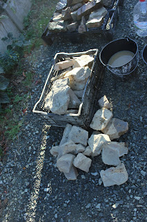 Cleaning stones prior to use in homemade storage heater