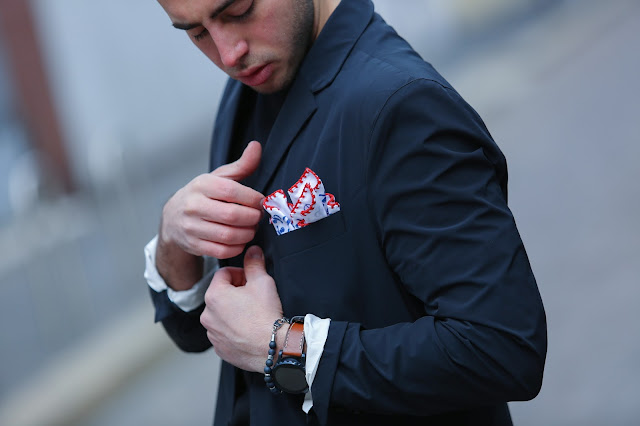poschette e outfit uomo