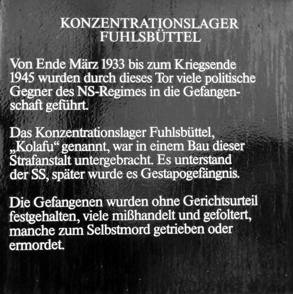 Kolafu Konzentrationslager Hamburg Fuhlsbüttel