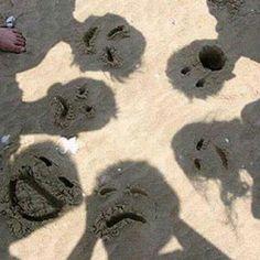 Foto familiar con sombras graciosas