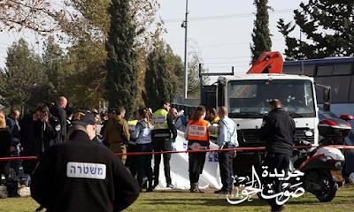 إصابة 9 أشخاص نتيجة دهس شاحنة إسرائيلية عددا من الفلسطينيين فى بيت جالا