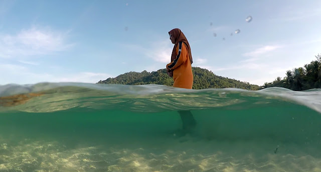 swimming at Long Beach in front of Bubu Resort, Perhentian Island, Malaysia