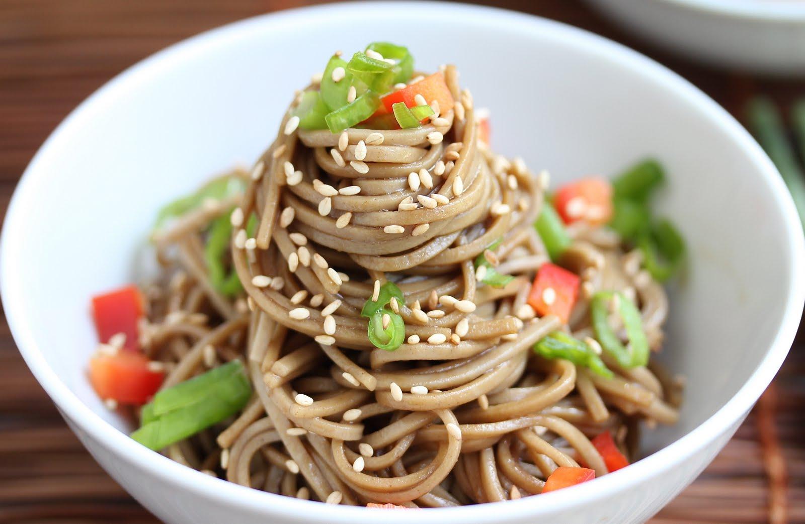 Cold Sesame Noodles   nomeatbarefeet