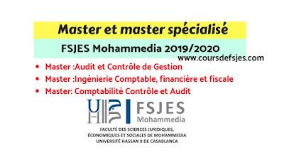 Lancement des candidatures pour les masters FSJES Mohammedia 2019/2020