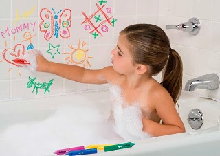 Image: ALEX Toys Rub a Dub Draw in the Tub Bath Crayons - draw colorful pictures on bathtubs, tile or your body!