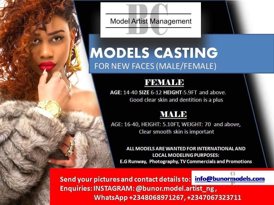 tvlovernaija: Call for Models and Aspiring Model