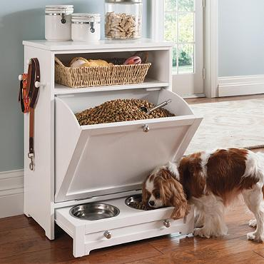 Pet feeder station :: OrganizingMadeFun.com