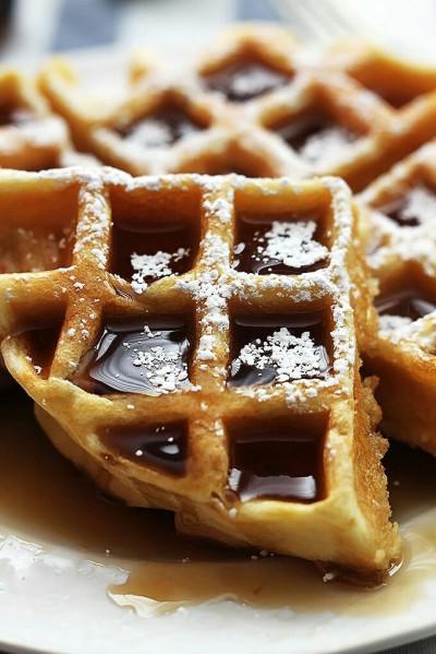 Variasi resep waffle khas Belanda.