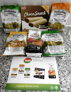 A good haul from Esgir. I bought one of each of the products that include gluten free croutons, crunchy crumbs and choco snack sticks